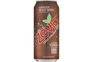 Zevia Zero Calorie Soda Ginger Root Beer