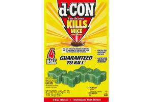 d-Con Kills Mice Bait Station Blocks - 4 CT