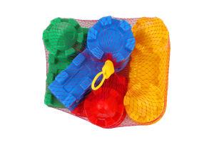Іграшка для дітей від 3років №67821 Форми Пісочниця Polesie 4шт