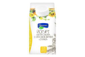 """Йогурт """"Мгарський"""" 2,5% жиру з наповнювачем """"Злаки"""" 450г"""
