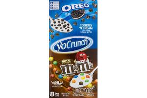 YoCrunch Lowfat Yogurt Oreo And M&M's Variety Pack - 8 CT