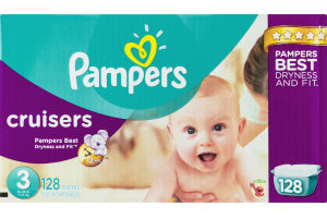 Pampers Cruisers Size 3 Diapers - 128 CT