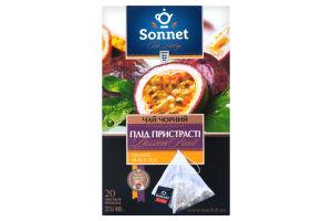 Чай черный байховый ароматизированный Плод страсти Sonnet к/у 20х2г