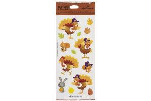 Hallmark Thanksgiving Stickers - 4 Sheets