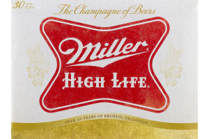 Miller High Life Beer - 30 PK