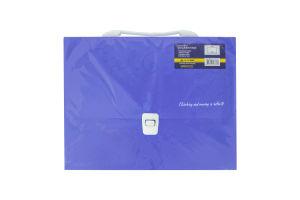 Портфель пластиковий A4/35мм, BuroМax Barocco,кол. асорті