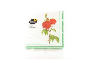 Салфетки Цветы винтаж Silken 20шт