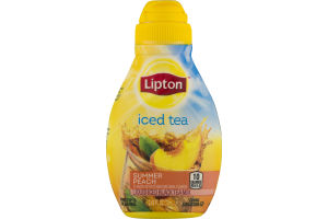 Lipton Iced Tea Liquid Iced Black Tea Mix Summer Peach