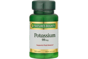 Nature's Bounty Potassium 99 MG - 100 CT