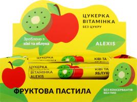 Пастила фруктовая киви-яблоко Конфета витаминка Alexis м/у 17г