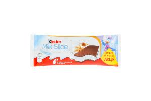Тістечко бісквітне з молочною начинкою Milk-slice Kinder м/у 28г