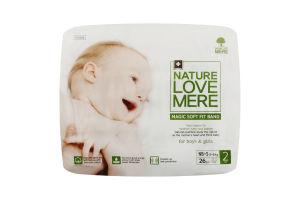 Подгузники для детей размер 2 3-6кг Magic soft fit band NatureLoveMere 26шт