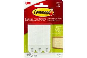 3M Command Damage-Free Hanging Medium Picture Hanging Strips - 3 CT