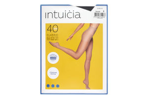 Колготки жіночі Intuicia Classic 40den №3 чорний