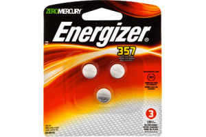 Energizer ZeroMercury 357 Battery - 3 CT