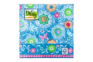 Салфетки Daisy с рисунком бумажная 3-слойная D-22