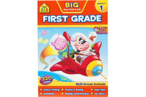 School Zone Big Workbook First Grade (Ages 6-7)