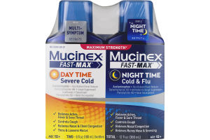 Mucinex Fast-Max Day Time Severe Cold and Night Time Cold & Flu Maximum Strength