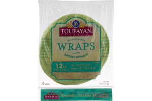 Toufayan Bakeries Wraps Savory Spinach - 6 CT