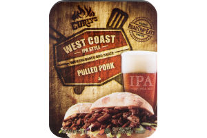 Curly's West Coast Style with IPA-Based BBQ Sauce Pulled Pork
