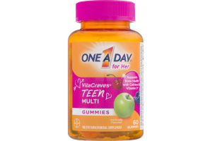 One A Day for Her VitaCraves Teen Multi Gummies - 60 CT