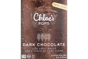 Chloe's Pops Dark Chocolate - 4 CT