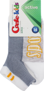 Шкарпетки дитячі Conte Kids №13C-34СП 14 білий-сірий