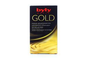 Полоски восковые для депиляции тела Gold Byly 10шт
