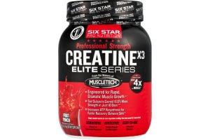 Six Star Pro Nutrition Professional Strength Fruit Punch Flavor Creatine X3