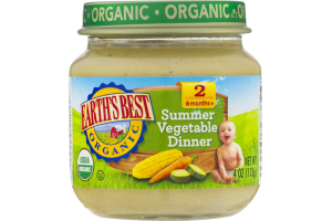 Earth's Best Organic Summer Vegetable Dinner Stage 2
