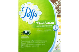 Puffs Plus Lotion White Facial Tissues 2-Ply - 372 CT