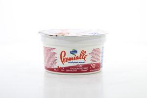 Творог 7% Cottage cheese кисломол зернистый вишня MilkLife Premialle 150г