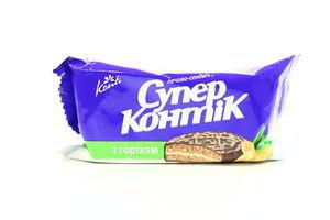 Печенье-сэндвич в шоколаде с орехом Супер-Контик Конти 100г