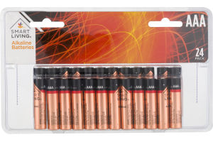 Smart Living Alkaline Batteries AAA - 24 CT
