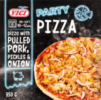 Піца заморожена з подрібненим м'ясом свинини Party Pizza Vici к/у 350г
