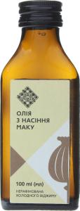 Олія з насіння маку Лавка традицій холодного віджиму нерафінована, 100 мл