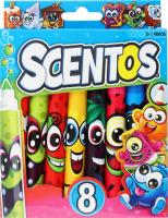 Набір маркерів для дітей від 3 років ароматних 8 кольорів №40605 Плавна лінія Scentos 1шт