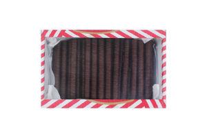 Вафлі зі смаком кокосу Трубочки Деліція к/у 0.5кг