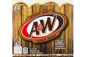 A&W Root Beer - 24 CT
