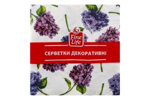 Серветки паперові декоративні Гортензія Fine Life 18шт
