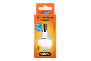 Лампа світлодіодна G45e 7W E14 4100K 220V Videx 1шт