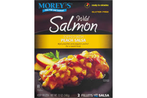 Morey's Wild Salmon Topped With Peach Salsa - 2 CT