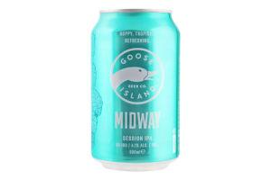 Пиво 0.33л 4.1% светлое Midway Goose Island ж/б