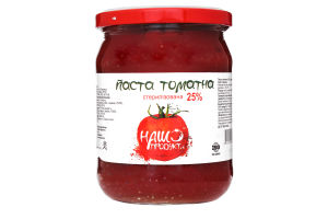Паста Наш продукт томатная стерилизованная 25%