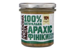 Паста арахісова з фініками та кокосовою олією Том с/б 300г