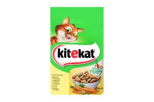 Корм сухой для взрослых кошек С курицей и овощами KiteKat м/у 1.8кг