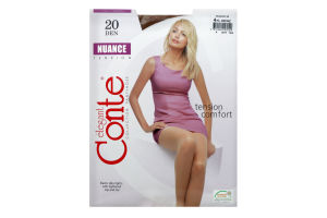 Колготки жіночі Conte Nuance 20den 4-L bronz