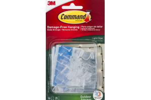 Command Damage-Free Hanging Outdoor Light Clips - 16 CT