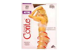 Колготы женские Conte Active Modelling 20den 3-M bronz