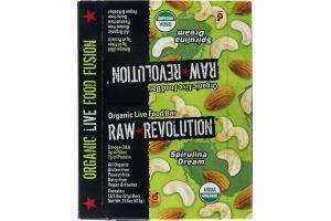 Raw Revolution Organic Live Food Bar Spirulina Dream - 12 CT